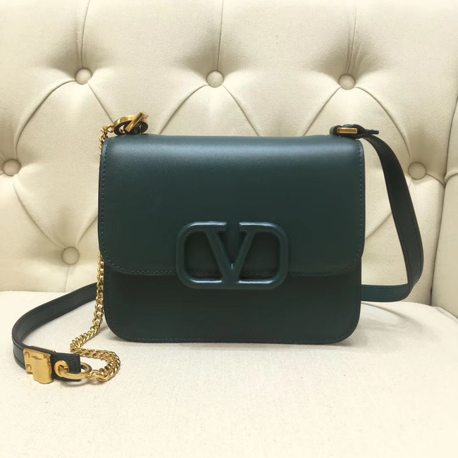VALENTINO VLOCK Origianl leather shoulder bag 0906 green