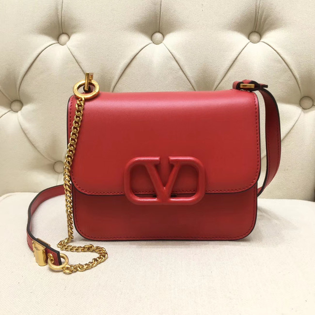 VALENTINO VLOCK Origianl leather shoulder bag 0906 red