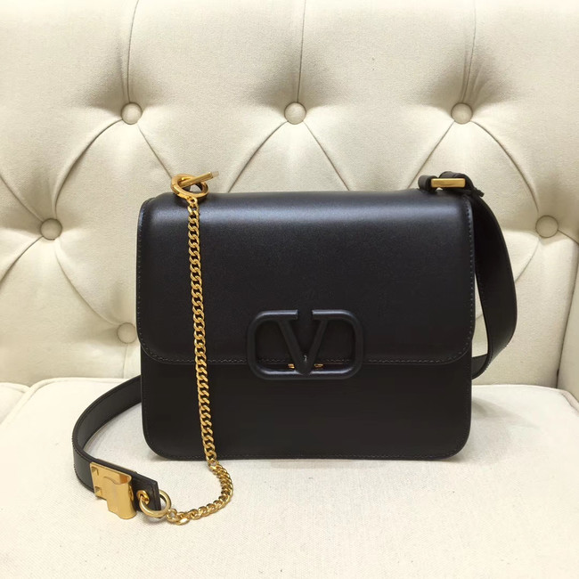 VALENTINO VLOCK Origianl leather shoulder bag 0908 black