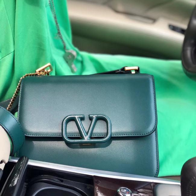 VALENTINO VLOCK Origianl leather shoulder bag 0908 green