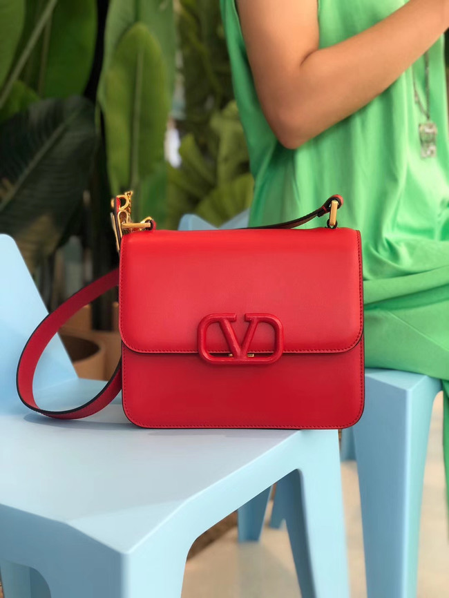 VALENTINO VLOCK Origianl leather shoulder bag 0908 red