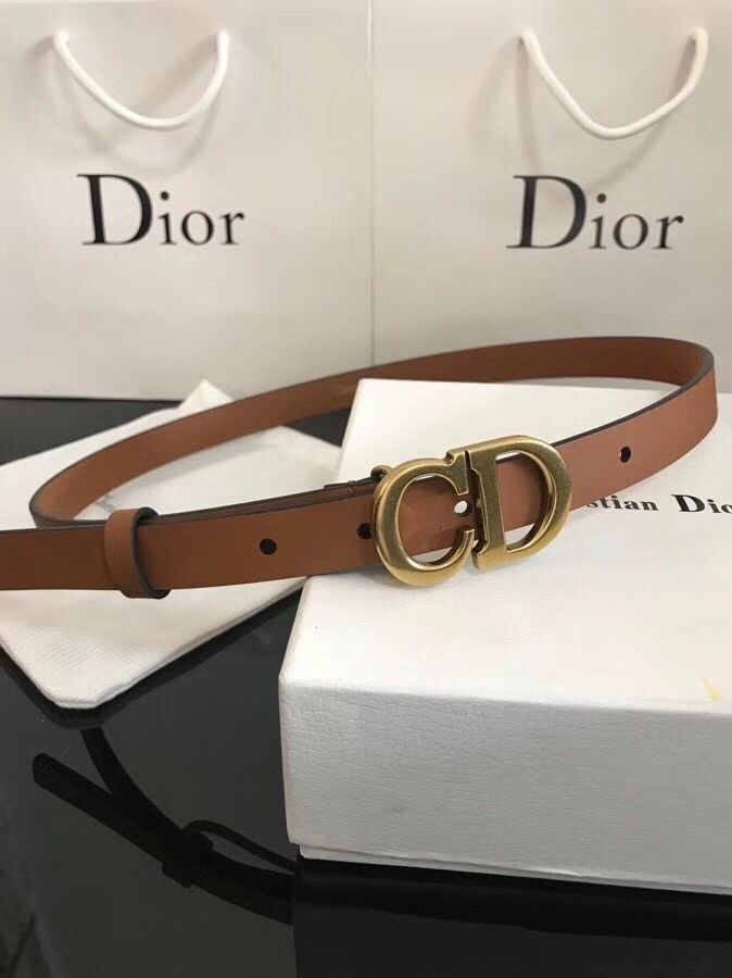 Dior Calf Leather Belt Wide with 20mm 5361 brown