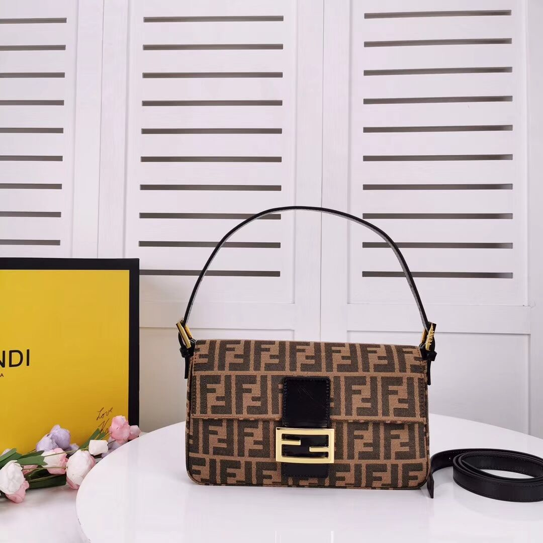 FENDI BAGUETTE fabric bag 8BR011 black