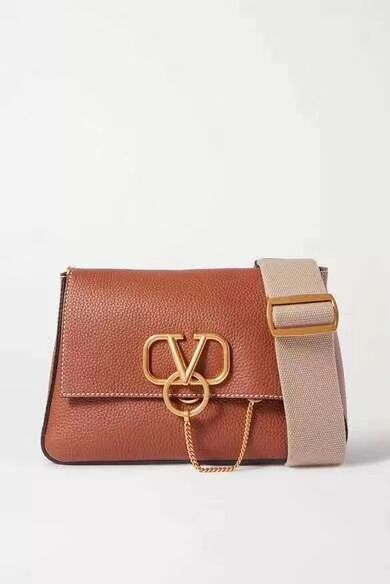 VALENTINO Origianl leather shoulder bag V0888 brown