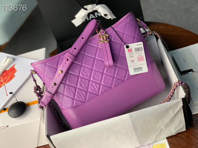 Chanel gabrielle hobo bag A93824 Lavender