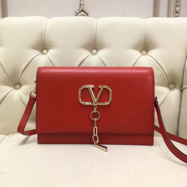 VALENTINO VLOCK Origianl leather shoulder bag 0909 red