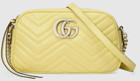 Gucci GG Marmont Matelasse Shoulder Bag 447632 yellow
