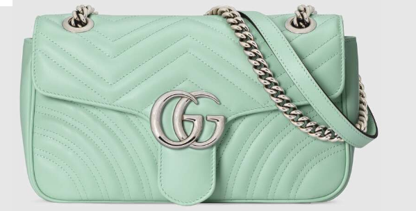 Gucci GG Marmont small shoulder bag 443497 Light green