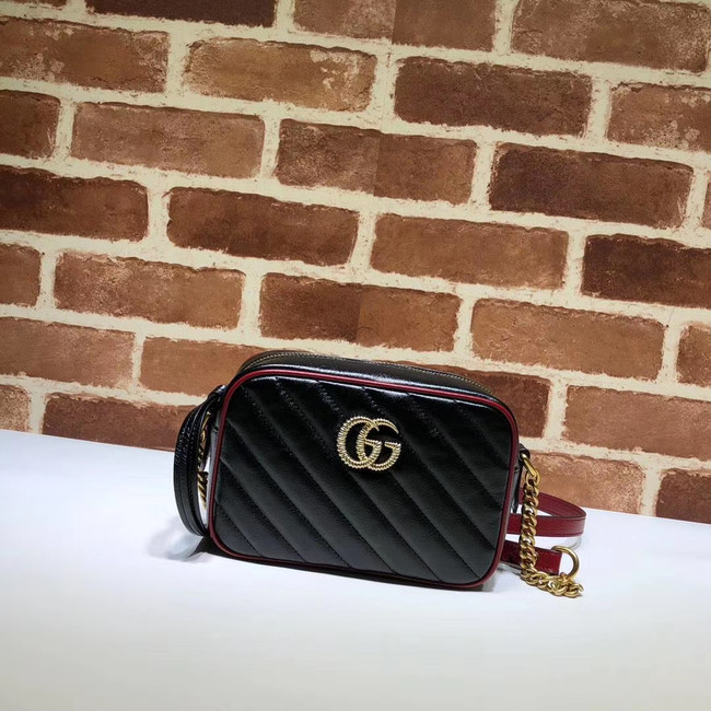 Gucci GG Marmont Matelasse mini Bag 448065 black