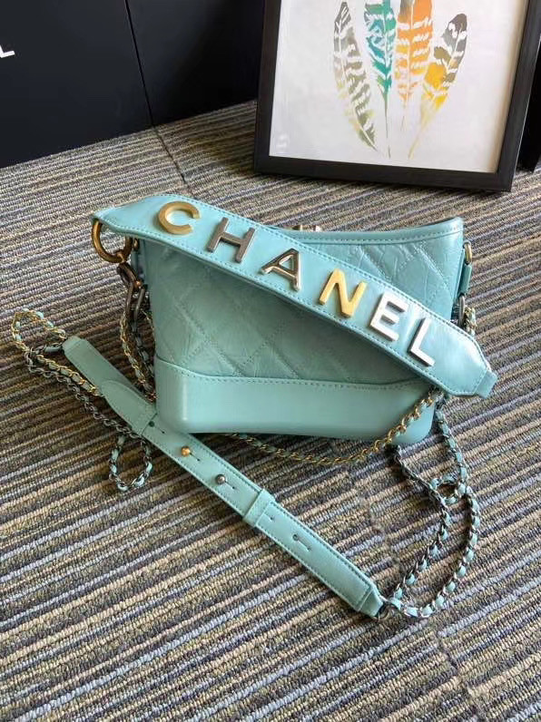 Chanel gabrielle small hobo bag S0865 sky blue