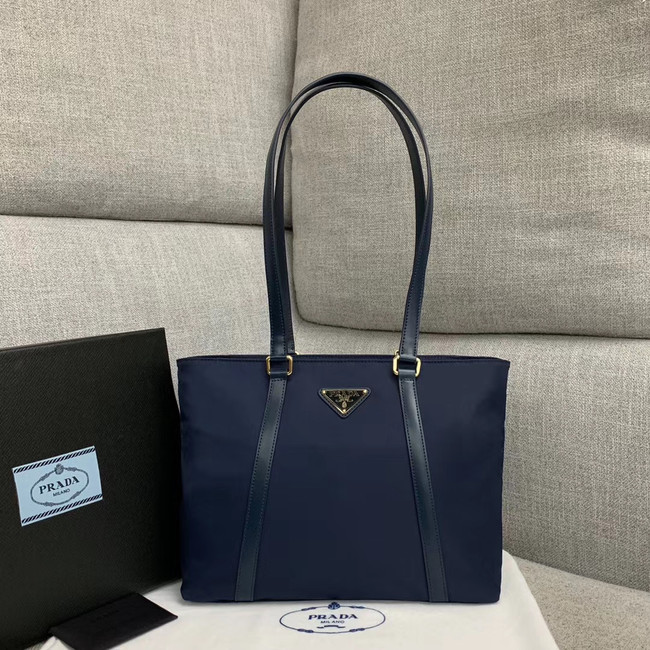 Prada Re-Edition 2000 nylon tote bag 91743 dark blue