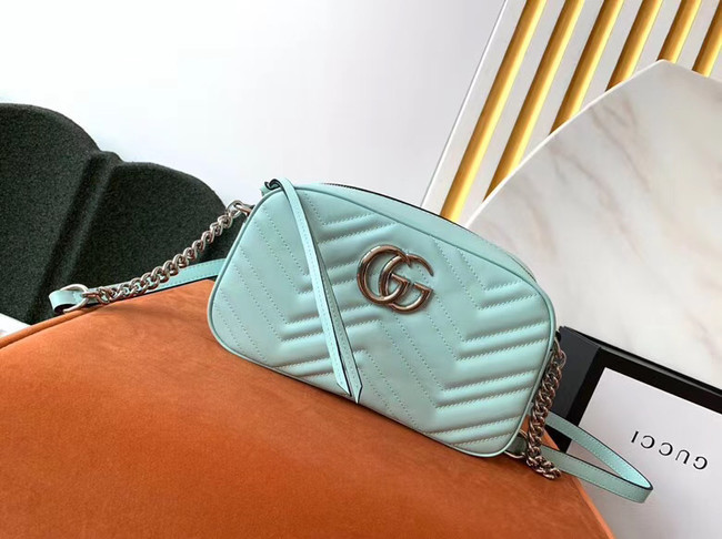 Gucci GG Marmont Matelasse Shoulder Bag 447632 Pastel green