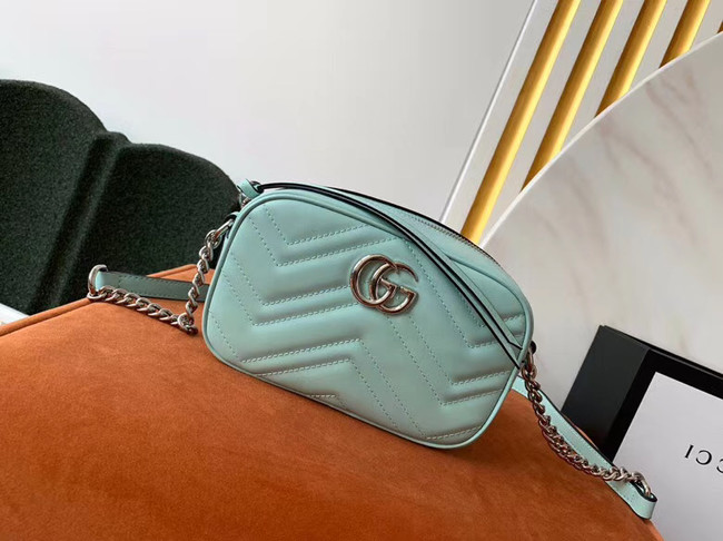 Gucci GG Marmont Matelasse samll Shoulder Bag 447632 Pastel green