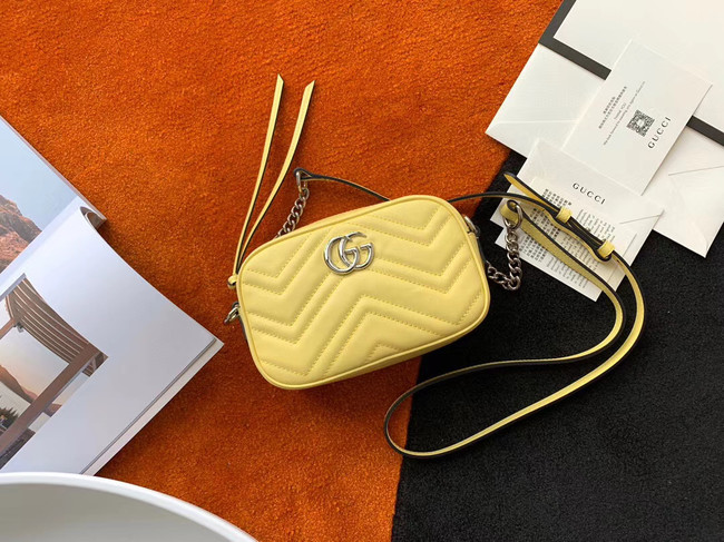 Gucci GG Marmont Matelasse samll Shoulder Bag 447632 yellow