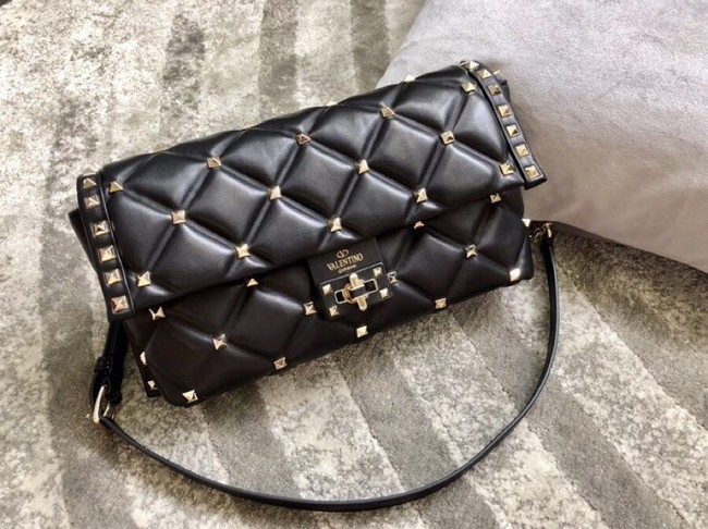 VALENTINO VLOCK Origianl leather shoulder bag 0053 black