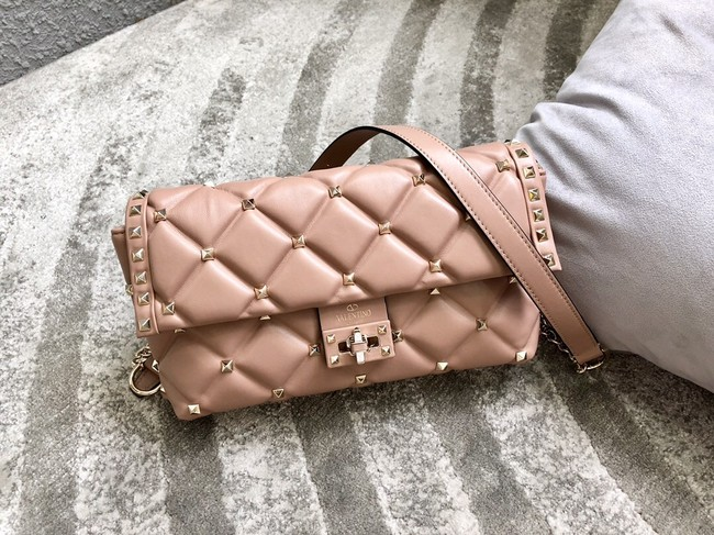 VALENTINO VLOCK Origianl leather shoulder bag 0053 pink