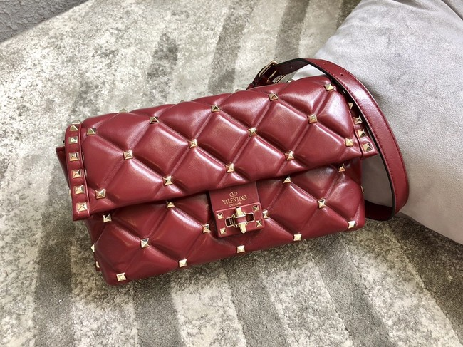 VALENTINO VLOCK Origianl leather shoulder bag 0053 red