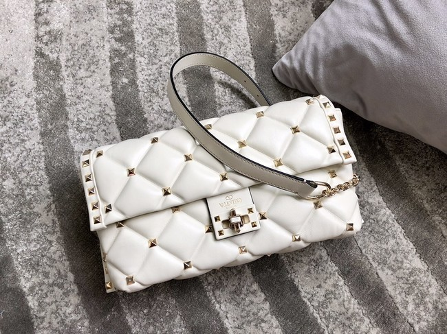 VALENTINO VLOCK Origianl leather shoulder bag 0053 white