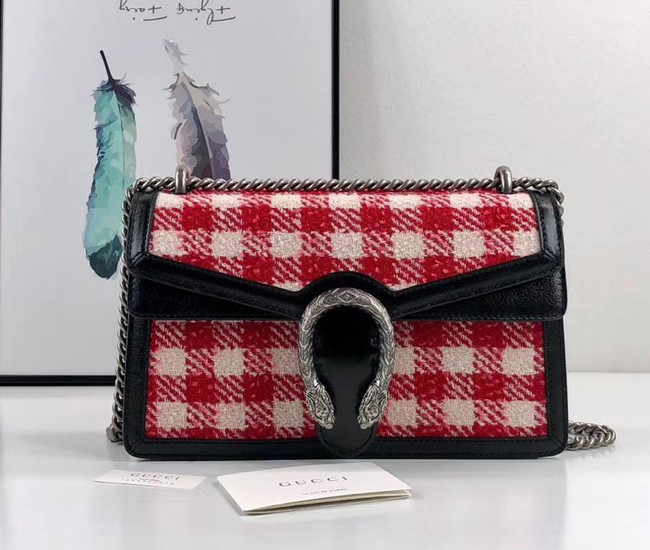 Gucci Dionysus GG Original tweed Shoulder Bag AS400249 red