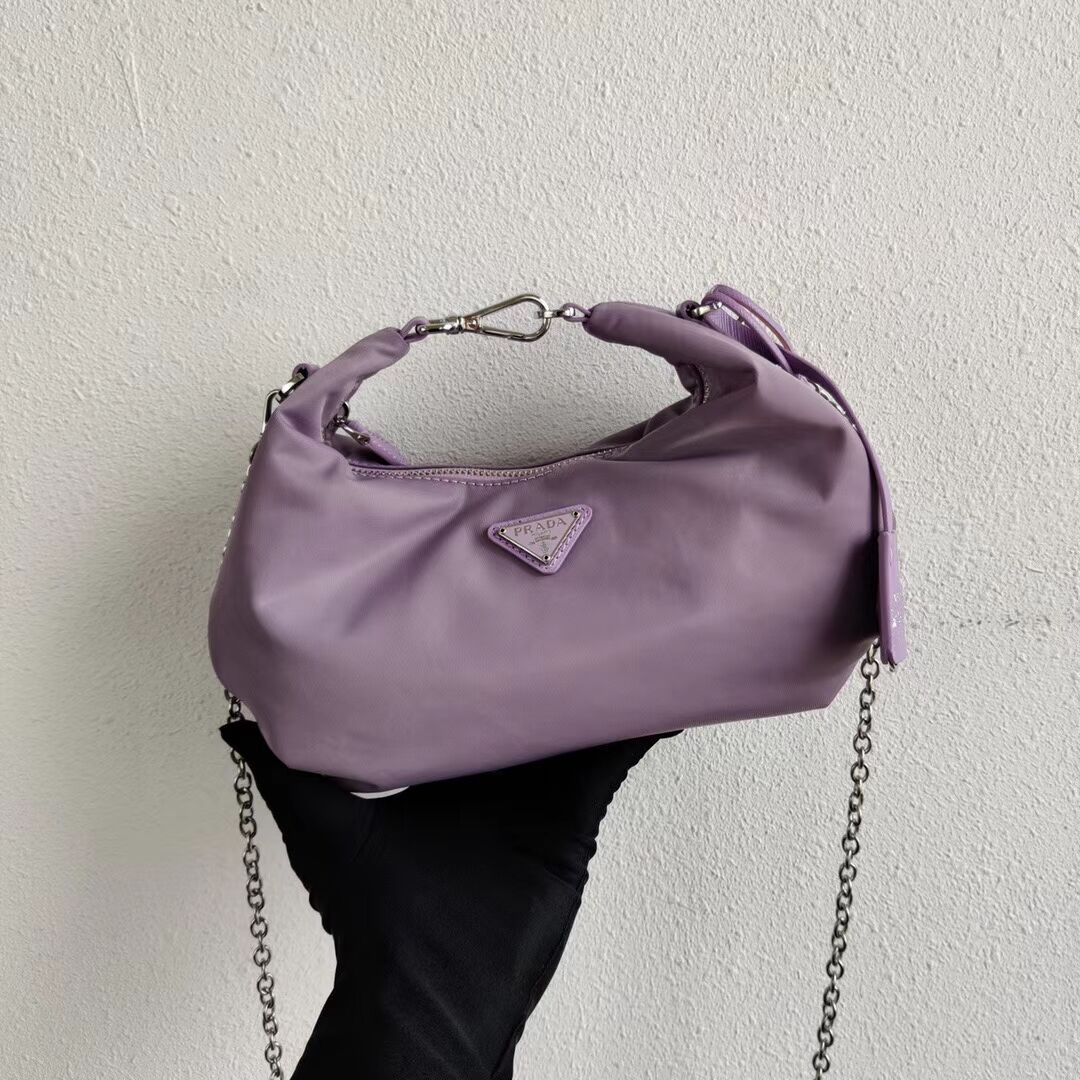 Prada Re-Edition 2005 nylon shoulder bag 1BH172 lilac