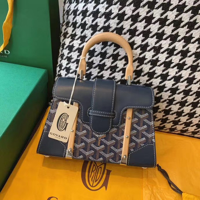 Goyard mini saigon tote bag 55632 dark blue
