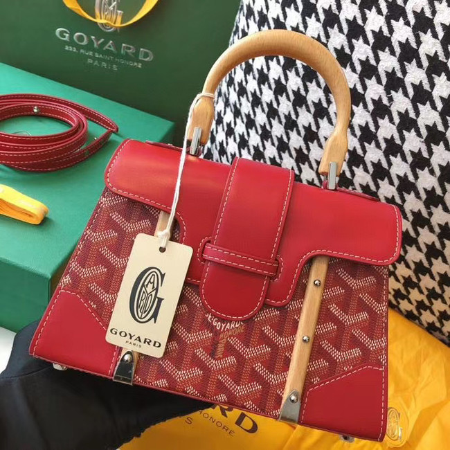 Goyard mini saigon tote bag 55632 red