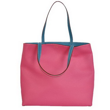 Hermes Shopping Bag 36CM Totes Clemence Peach