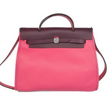 2012 New Hermes HerBag 31CM Togo leather Bag H9051 Peach