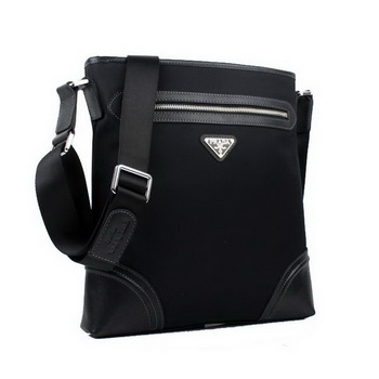 Prada Fabric Messenger Bag 0014 Black