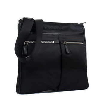 Prada Vela Fabric Messenger Bag BT0220 Black