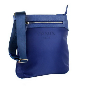 Prada Vela Fabric Messenger Bag BT0221 Blue