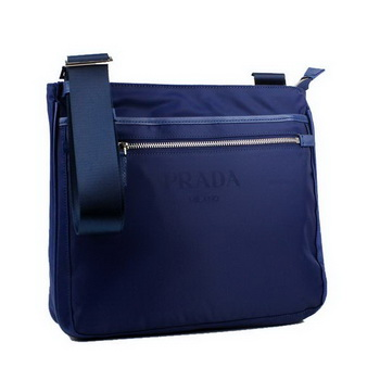Prada Vela Fabric Messenger Bag BT0251 Blue