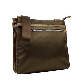 Prada Vela Fabric Messenger Bag BT0251 Brown