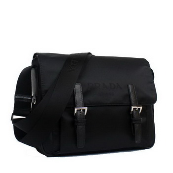 Prada Vela Flap Bag BT6671 Black