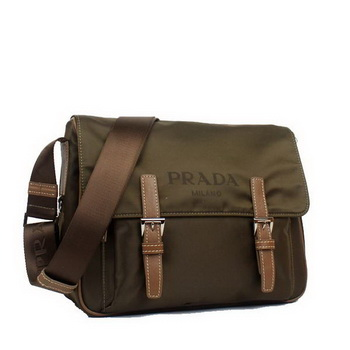 Prada Vela Flap Bag BT6671 Brown