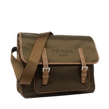 Prada Vela Flap Bag BT9810 Brown