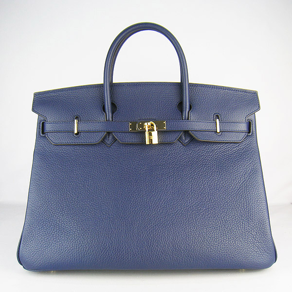 Hermes Birkin 40CM Togo Bag Dark Blue 6099 Gold