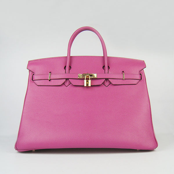 Hermes Birkin 40CM Togo Bag Dark Peachblow 6099 Gold