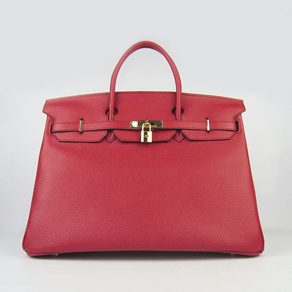 Hermes Birkin 40CM Togo Bag Red 6099 Gold