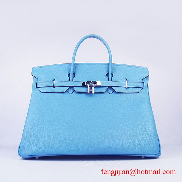 Hermes Birkin 40cm Togo Bag Light Blue 6099