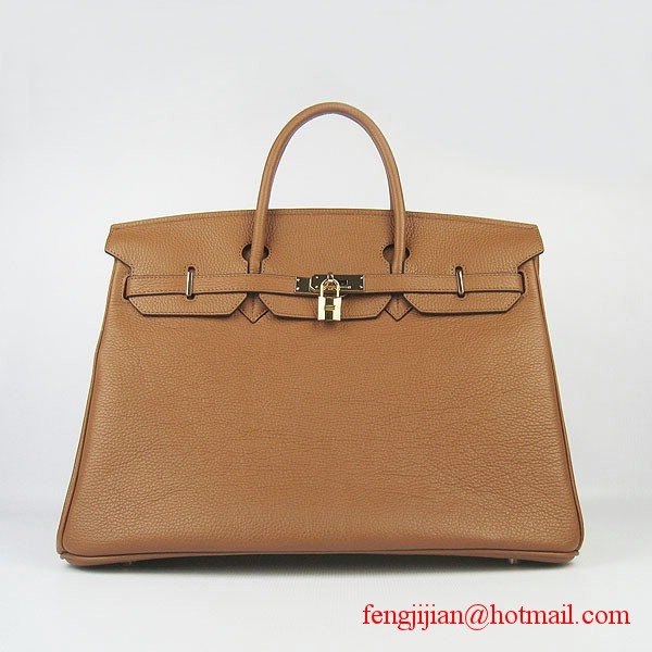 Hermes Birkin 40cm Togo Bag Light Coffee 6099