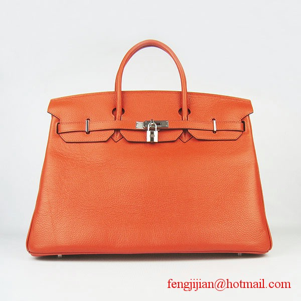 Hermes Birkin 40cm Togo Bag Orange 6099