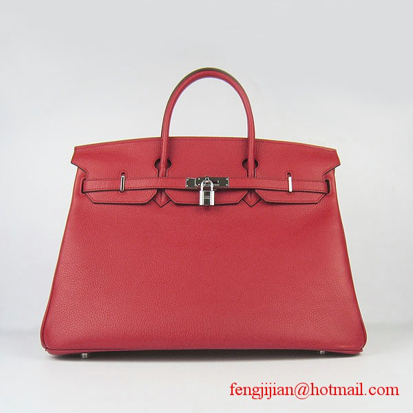Hermes Birkin 40cm Togo Bag Red 6099