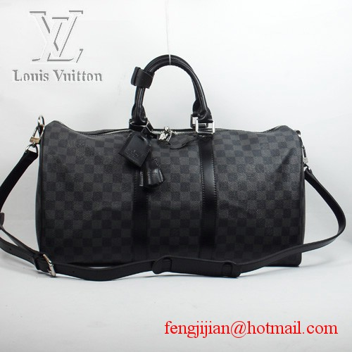 Louis Vuitton Damier Graphite Canvas Keepall 55 Strap N41413