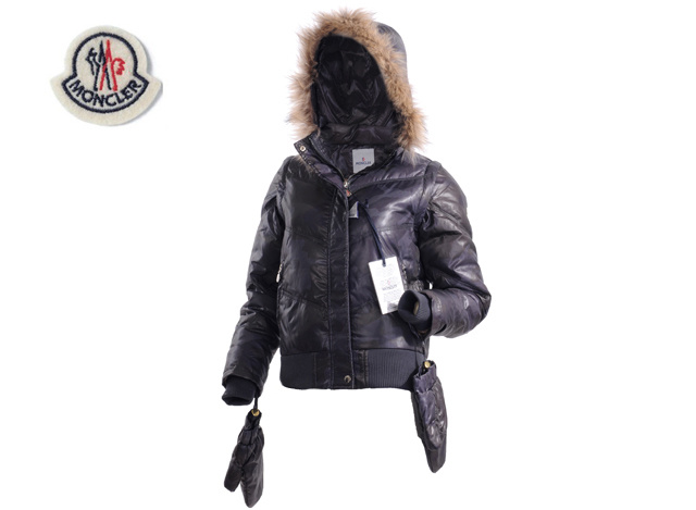 Moncler Branson Womens Down Jacket Black