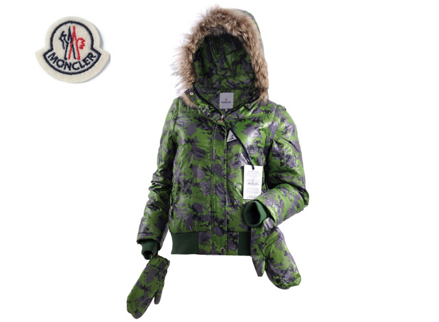 Moncler Branson Womens Down Jacket Green