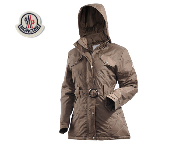 Moncler Womens Down Jacket Coffee
