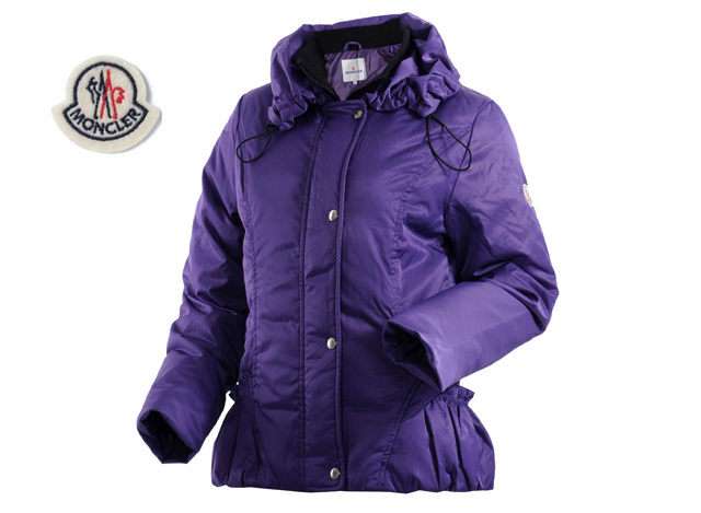 Moncler Womens Down Jacket Lapel Purple